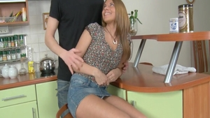Pussy fucking along with young teen Violet Monroe
