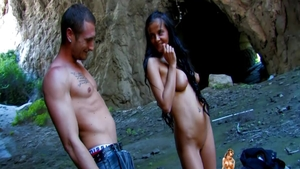 Pussy fuck outdoors beautiful latina Candy Alexa