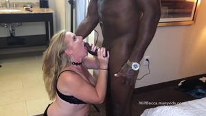 Big ass housewife digs hard slamming