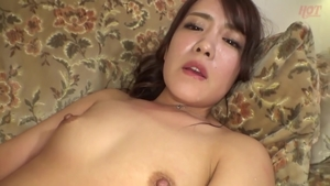 Playing with toys hairy japanese in HD