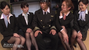 Ruka Ichinose wearing pantyhose group sex in office HD