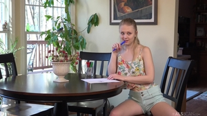 Small tits teen chick Lily Rader fetish fun with toys