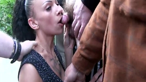 Group sex in the company of chick