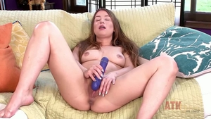 Female Taylor Sands playing with toys