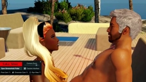Roleplay at the beach in HD