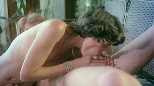 Desiree Cousteau together with Christine DeShaffer blowjob