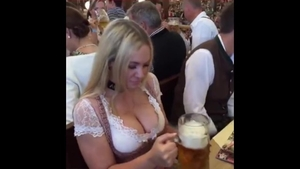 Large boobs blonde haired raw creampie during oktoberfest