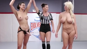 Large boobs Penny Barber wrestling XXX