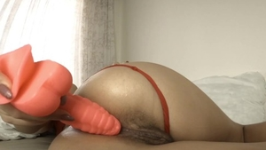 Solo big butt and gorgeous amateur gentle squirting in public
