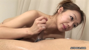 Asian Hirota Sakura playing with toys