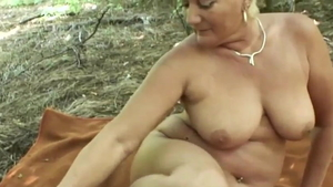 Nudist deutsch gets a good fucking outdoors