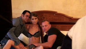 Threesome at the audition czech Nessa Devil