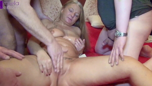 Big tits Rosella Extrem group sex on Xmas