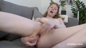 Rough nailing with small boobs redhead