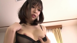 Japanese Tsukasa Aoi playing with sex toys