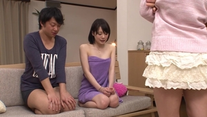 Threesome starring hairy japanese girl