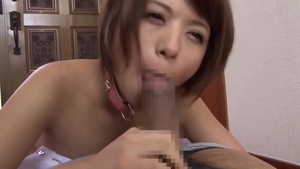 Pussy sex in company with hairy asian housewife