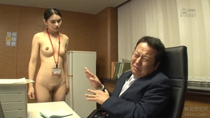 Asian brunette censored Pussy fucked in office