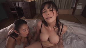 Fucking hard in the company of big boobs asian mature