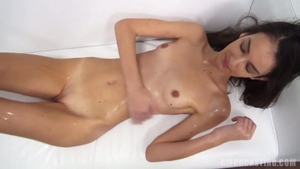 Oily good fucking with petite czech blonde