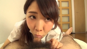 Hairy brunette POV creampied