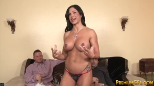 Super sexy MILF Jewels Jade helps with gangbang