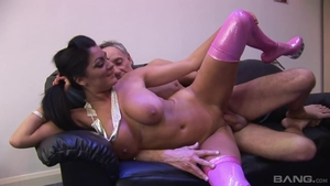 Whore Brad Knight accompanied by huge tits Claudia Rossi