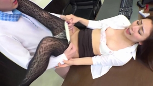 Sexy asian MILF got her pussy smashed in office