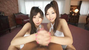 POV nailing together with asian brunette