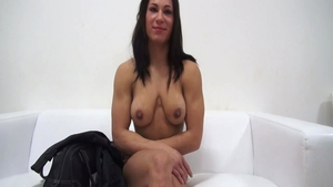 Muscled super cute czech chick at the casting