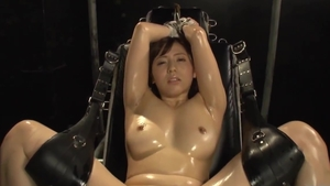 Threesome hairy japanese in stockings in HD