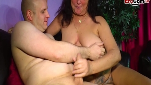 Beautiful huge deutsch MILF raw seduced at the casting
