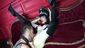 Mistress feels the need for hard slamming in uniform in HD