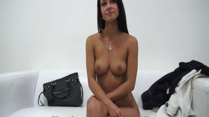 Petite czech babe toys action at casting