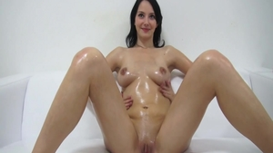 Small boobs petite czech babe oily orgasm at the casting HD