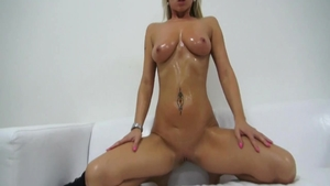 Solo bubble butt czech blonde babe ass licking at the casting