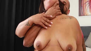 Big tits Breana Khalo interracial bang cock sucking