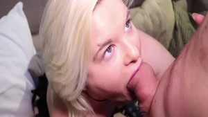 Big ass french BBW rough blowjob