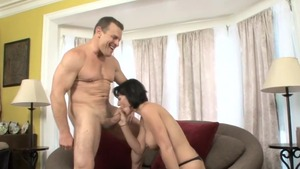 Amazing brunette Roxanne Hall crazy got her pussy pounded