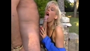 Young Kelly Trump cock sucking outdoors