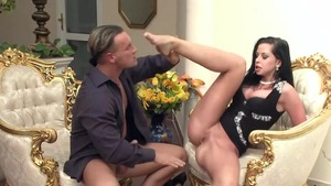Big tits and sexy escort Larissa Dee blowjobs