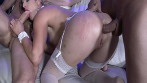Ramming hard together with super hot blonde Mira Sunset