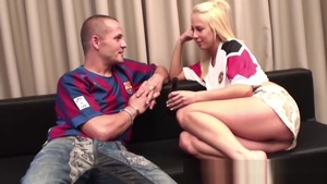 Rough raw fucking together with european blonde Carla Cox
