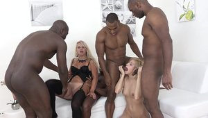 Babe Ria Black has a passion for sloppy fucking in lingerie