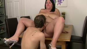 Huge stepmom doggy fucks