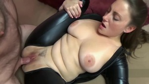 Big tits Melanie Hicks brunette sucking cock sex scene